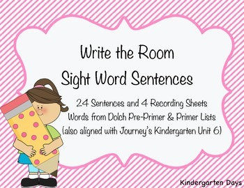 Write the Room Sight Word Sentences (Pre-Primer, Primer, J