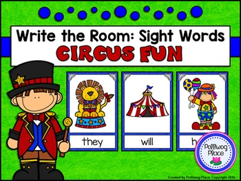 Write the Room: Sight Words - Circus Fun {Editable}