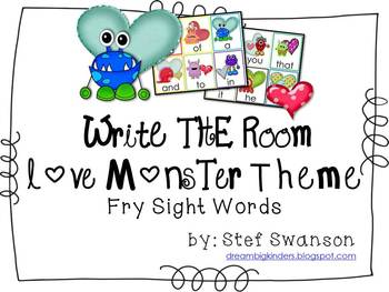 Write the Room Sight Words {Love Monster Theme}