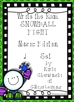 Write the Room Snowball Fight! Music Edition half note Set