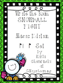 Write the Room Snowball Fight! Music Edition syn-co-pa Set