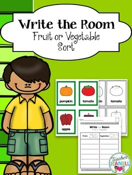 Write the Room - Sorting Fruits and Vegetables