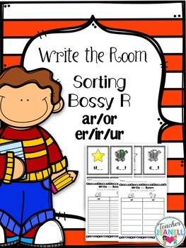 Write the Room - Sorting R-Controlled Vowels