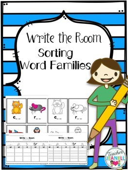 Write the Room - Sorting Word Families