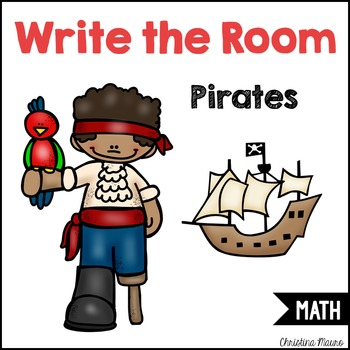 Write the Room - Ten Frames & Tally Marks {Pirate Themed}