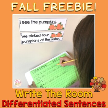 Write the Room Thanksgiving Freebie!!
