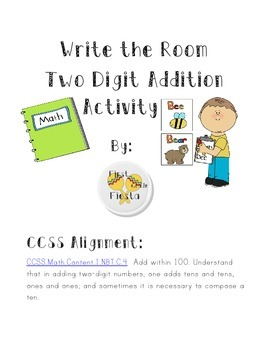 Write the Room Two Digit Addition English and Spanish