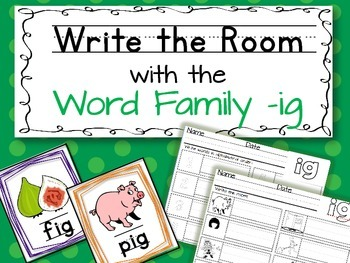Write the Room: Word Family -ig
