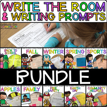 Write the Room Writing Prompts Growing Bundle {Cardstock o