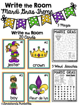 Write the Room (Mardi Gras Theme) with Ms. Lendahand