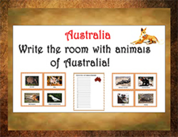 Write the Room with animals of Australia!