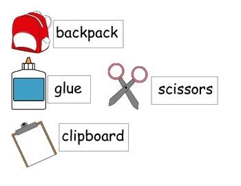 Write the room-school supplies