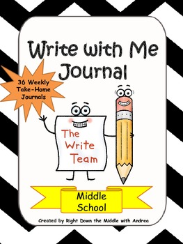 Writing Prompts: Write with Me Journal {Middle School}