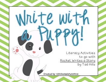 """Write with a Puppy! {Common Core activities for """"Rocket Wr"""