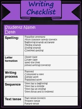 Writer Checklist Chalkboard Theme
