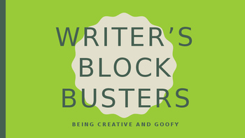 Writer's Bock Busters