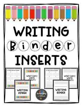 Writer's Notebook Inserts