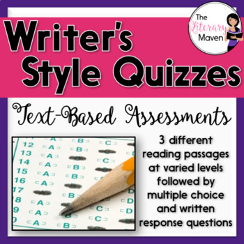 Writer's Style Quizzes: Text-Based Assessments with Multip