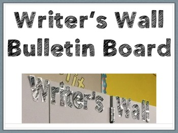 Writer's Wall Bulletin Board