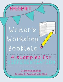 Writer's Workshop Booklets - Differentiation