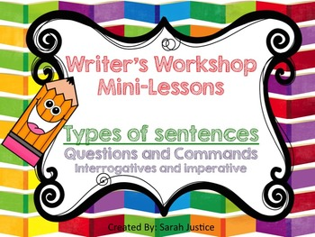 ( Commands and Questions) Writer's Workshop for 1st and 2nd grade