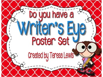 Writer's Eye Editing Posters Primary Colors