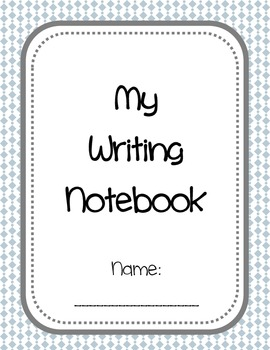 Writer's Notebook Cover and Forms