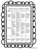 Writers Notebook Rubric {FREEBIE}