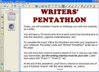 Writers' Pentathlon