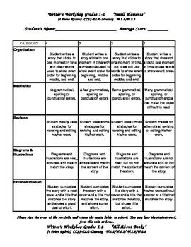 Writer's Workshop 4 Point Rubrics correlated to Common Cor