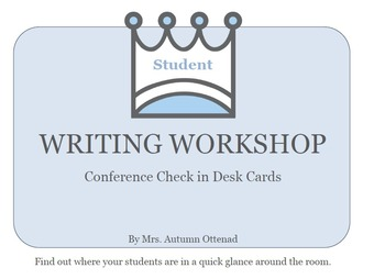 Writers Workshop Conference Cards