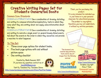 Writer's Workshop: Creative Writing Book Covers and Pages