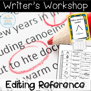 Writer's Workshop Editing Helps with editing marks and sel