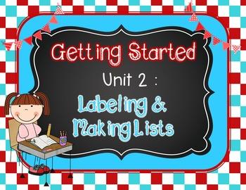 Writer's Workshop - Kindergarten Unit 2: Labeling and Maki
