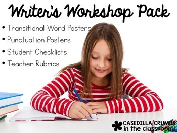 Writers Workshop Pack Transitional Word Posters Rubric Checklist