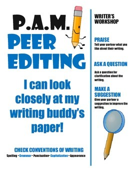 Writer's Workshop: Peer Editing with the PAM Strategy Anch