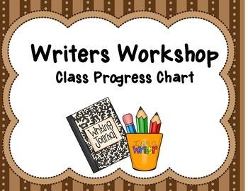 Writers Workshop Progress Chart