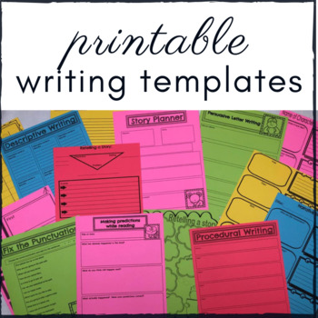 Writer's Workshop Writing Templates: use with 6 traits of