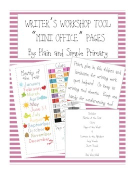 Writers Workshop and Work on Writing Tools for Primary Wri