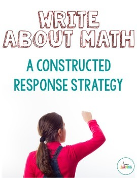 Writing About Math: Interactive Notebook Freebie
