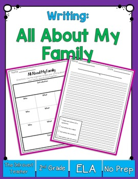 Writing About My Family Planning Sheet and Publishing Pape