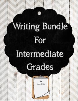 Writing Activities Bundle for Intermediate Grades