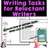 Writing Activity Ideas for Reluctant Writers: ideas from l