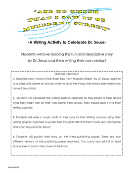 Writing Activity to Celebrate Dr. Seuss