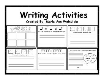 Writing Actvities