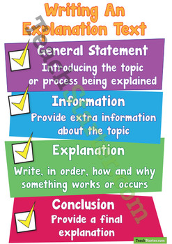 Writing An Explanation Text Poster