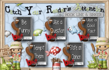 Writing Anchor Chart - Catch Your Reader . . . Hook, Line