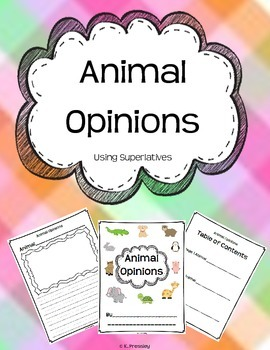 Writing Animal Opinions {Using Superlatives}