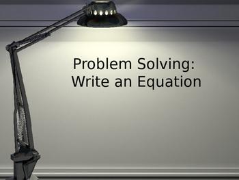 Writing Basic Math Equations