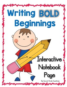 Writing Bold Beginnings: An Interactive Notebook Page for